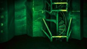 Πράσινα σπειροειδή σκαλοπάτια - DSC02796 Στοκ Φωτογραφία