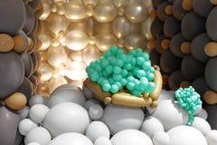 Πράσινα σταφύλια μπαλονιών Στοκ φωτογραφία με δικαίωμα ελεύθερης χρήσης