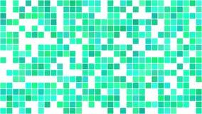 Πράσινα στρογγυλευμένα τετράγωνα που εμφανίζονται τυχαία στο μωσαϊκό απόθεμα βίντεο