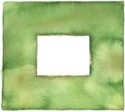 Πράσινα σύνορα Watercolor Στοκ φωτογραφία με δικαίωμα ελεύθερης χρήσης
