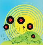 πράσινα του DJ δίσκων disco ανασ&k Στοκ Εικόνες