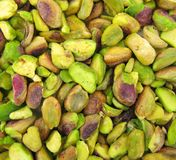 Πράσινα τρόφιμα πρόχειρων φαγητών φυστικιών Στοκ Φωτογραφία
