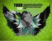 πράσινα υγιή φτερά Στοκ Εικόνες
