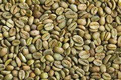 Πράσινα φασόλια καφέ στοκ φωτογραφία