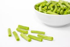 Πράσινα φασόλια στο πιάτο Στοκ Φωτογραφίες