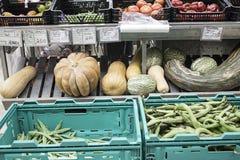 Πράσινα φασόλια greengrocers Στοκ εικόνες με δικαίωμα ελεύθερης χρήσης