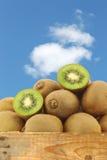 Πράσινα φρούτα ακτινίδιων και μια περικοπή μια Στοκ φωτογραφία με δικαίωμα ελεύθερης χρήσης