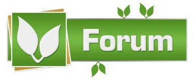 Πράσινα φύλλα φόρουμ οριζόντια απεικόνιση αποθεμάτων