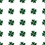 Πράσινα φύλλα τριφυλλιού τέσσερις-φύλλων Watercolor ανασκόπηση ημέρα Πάτρικ ST φιλανθρωπία Χρωματισμένη χέρι απεικόνιση Στοκ εικόνα με δικαίωμα ελεύθερης χρήσης