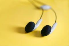 πράσινα φώτα ακουστικών Στοκ Φωτογραφία