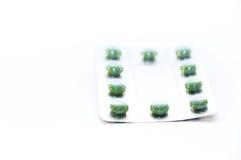 Πράσινα χάπια Στοκ φωτογραφίες με δικαίωμα ελεύθερης χρήσης