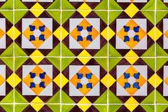 Πράσινα azulejos - κεραμίδια από τη Λισσαβώνα, Πορτογαλία Στοκ φωτογραφία με δικαίωμα ελεύθερης χρήσης