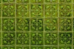 Πράσινα azulejos - κεραμίδια από τη Λισσαβώνα, Πορτογαλία Στοκ Φωτογραφία