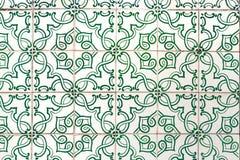 Πράσινα azulejos - κεραμίδια από τη Λισσαβώνα, Πορτογαλία Στοκ Εικόνες