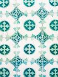 Πράσινα azulejos, παλαιά κεραμίδια στην παλαιά πόλη της Λισσαβώνας, Πορτογαλία Στοκ εικόνα με δικαίωμα ελεύθερης χρήσης