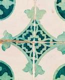 Πράσινα azulejos, παλαιά κεραμίδια στην παλαιά πόλη της Λισσαβώνας, Πορτογαλία Στοκ Εικόνες
