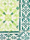 Πράσινα azulejos, παλαιά κεραμίδια στην παλαιά πόλη της Λισσαβώνας, Πορτογαλία Στοκ φωτογραφία με δικαίωμα ελεύθερης χρήσης