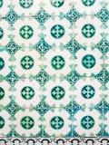 Πράσινα azulejos, παλαιά κεραμίδια στη Λισσαβώνα, Πορτογαλία Στοκ εικόνα με δικαίωμα ελεύθερης χρήσης