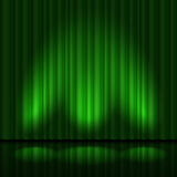 Πράσινα drapes Στοκ Φωτογραφίες