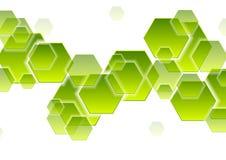 Πράσινα hexagons τεχνολογίας αφαιρούν το γεωμετρικό υπόβαθρο απεικόνιση αποθεμάτων