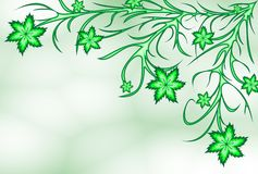πράσινα lilyes ελεύθερη απεικόνιση δικαιώματος
