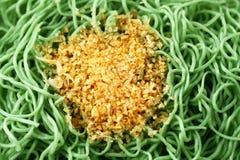 πράσινα noodles κινηματογραφήσ&epsilon Στοκ Φωτογραφία