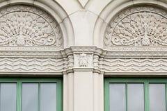πράσινα Windows Στοκ Φωτογραφία