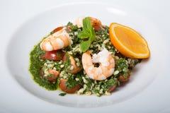 πράσινες γαρίδες σαλάτας Στοκ Εικόνα