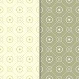 Πράσινες γεωμετρικές διακοσμήσεις ελιών άνευ ραφής σύνολο προτύπων Στοκ Φωτογραφίες