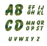 Πράσινες γεωμετρικές επιστολές Στοκ Εικόνες