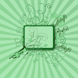 πράσινες διακοσμήσεις μ&o Στοκ Εικόνες