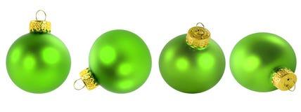 πράσινες διακοσμήσεις Χριστουγέννων Στοκ εικόνες με δικαίωμα ελεύθερης χρήσης