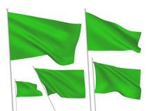 Πράσινες διανυσματικές σημαίες Στοκ Εικόνες