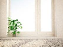 Πράσινες εγκαταστάσεις στο παράθυρο, τρισδιάστατο ελεύθερη απεικόνιση δικαιώματος