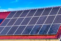 Πράσινες επιτροπές ηλιακής ενέργειας Στοκ εικόνα με δικαίωμα ελεύθερης χρήσης