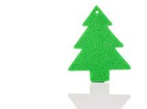 Πράσινες διακοσμήσεις δέντρων Χριστουγέννων Στοκ Εικόνες