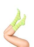 πράσινες κάλτσες στοκ εικόνα