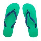 Πράσινες και μπλε πτώσεις κτυπήματος Στοκ εικόνες με δικαίωμα ελεύθερης χρήσης