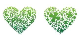 Πράσινες καρδιές ελεύθερη απεικόνιση δικαιώματος