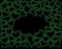 πράσινες καρδιές Στοκ φωτογραφία με δικαίωμα ελεύθερης χρήσης