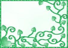 πράσινες καρδιές Στοκ εικόνες με δικαίωμα ελεύθερης χρήσης