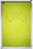 πράσινες καρδιές δύο Στοκ φωτογραφία με δικαίωμα ελεύθερης χρήσης