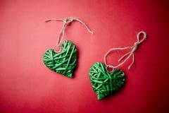 πράσινες καρδιές Στοκ Εικόνα