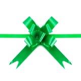 πράσινες κορδέλλες τόξων Στοκ φωτογραφία με δικαίωμα ελεύθερης χρήσης