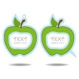 Πράσινες λεκτικές φυσαλίδα και τιμή μήλων   Στοκ εικόνα με δικαίωμα ελεύθερης χρήσης