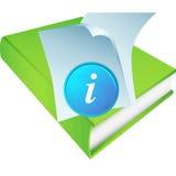 πράσινες πληροφορίες εικονιδίων βιβλίων απεικόνιση αποθεμάτων