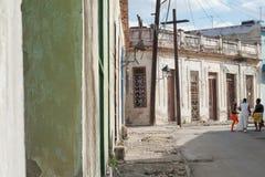 Πράσινες πόρτες στην Κούβα Στοκ Εικόνες