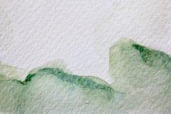 Πράσινες συστάσεις 9 Watercolour διανυσματική απεικόνιση
