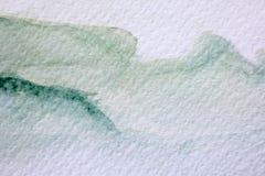 Πράσινες συστάσεις 7 Watercolour διανυσματική απεικόνιση