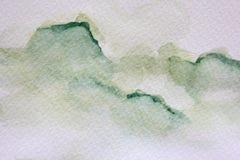 Πράσινες συστάσεις 6 Watercolour απεικόνιση αποθεμάτων